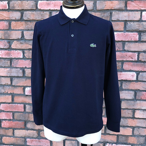Lacoste Long Sleeve Polo Shirt Navy Size-2