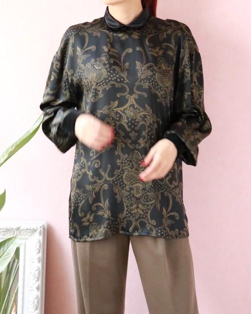 Escada bowtie silk blouse
