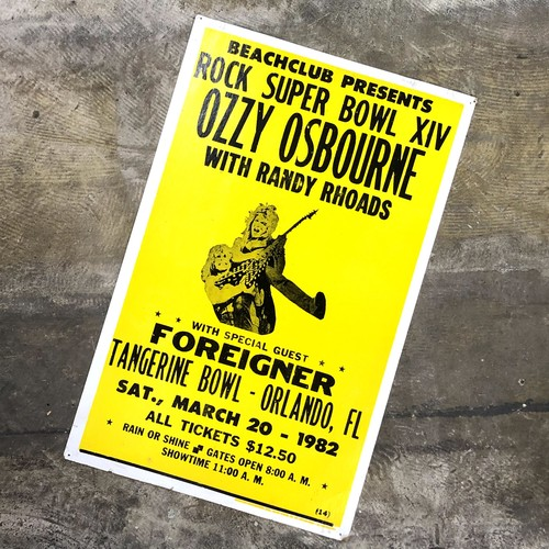 オジーオズボーン ビンテージ ポスター OZZY OSBOURNE WITH RANDY RHOADS 1982 ROCK SUPER BOWL XIV Concert POSTER