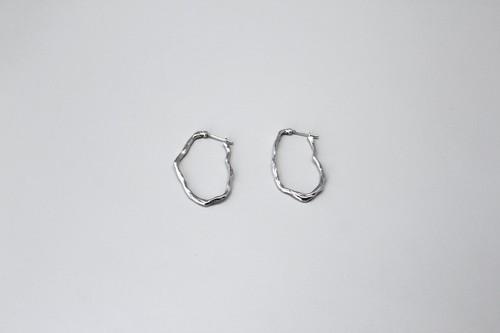 """膜を張るピアスL (silver925)【2020""""SKIN FORM""""】"""