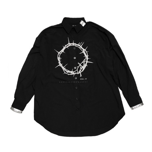 ILL IT - CIRCLE LOGO BIG SHIRT(BLACK) -