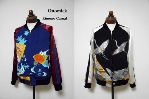 着物スカジャン・リバーシブル Reversible Kimono Sukajan SK-261/L