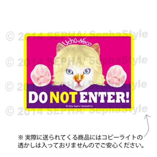 ステッカーサイン「 Do Not Enter(立入禁止/入室禁止)」高耐水&耐候性マグネットサイン: うちゅうねこ
