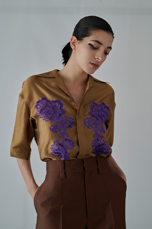【20SS】INSCRIRE アンスクリア / Flower Blouse