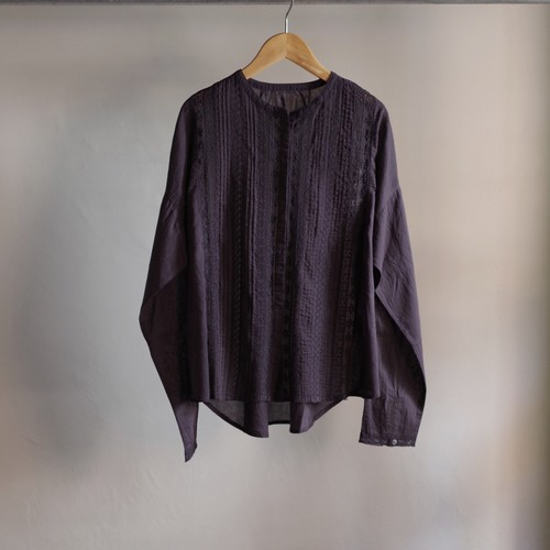 Select Item / Leaver lace Blouse #charcoal / リバーレース ブラウス