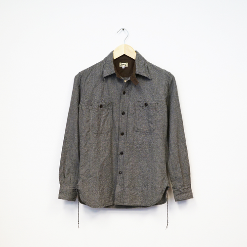 2 POCKETS WORK SHIRT (HOUND'S TOOTH)