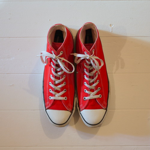 "CONVERSE 1990's ALL STAR ""Made in USA"" Size13 red"