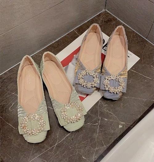 bijou ribbon shoes 3color