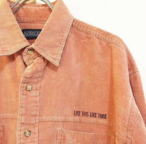 LIKE THIS LIKE THAT: LANDS'END twist corduroy shirt (remake)