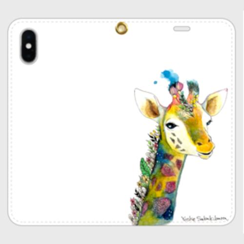giraffe 手帳型iPhoneケース 帯なし