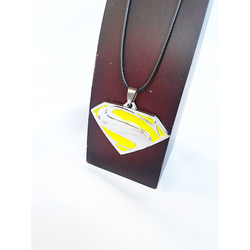 スーパーマン ロゴ S ネックレス チョーカー 黄 アジャスタブル 調整可能 1215