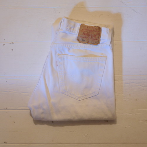 """Levi's 1990's 501 """"White,Made in USA"""" W31 L30"""