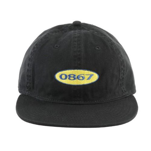 0867 / Unstructured Cap / Box / Logo / Black