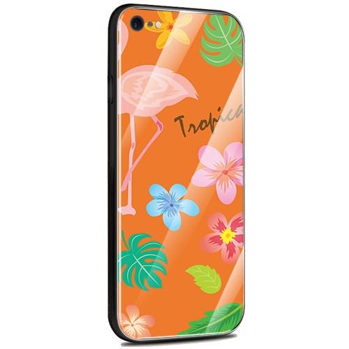 Jenny Desse iPhone XS Max ケース カバー 背面強化ガラスケース  背面ガラスフィルム シリコンハイブリッドケース 対応 sim free 対応 トロピカル・オレンジ