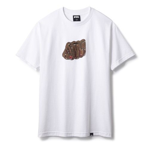 FTC(エフティーシー) / SKATE CLUB FIST TEE -WHITE-