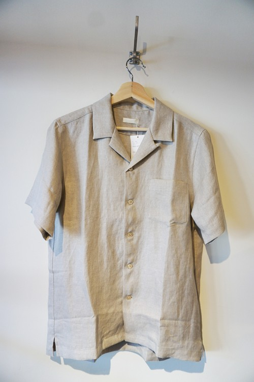 French Linen Open Collar S/S Shirt [Ecru]