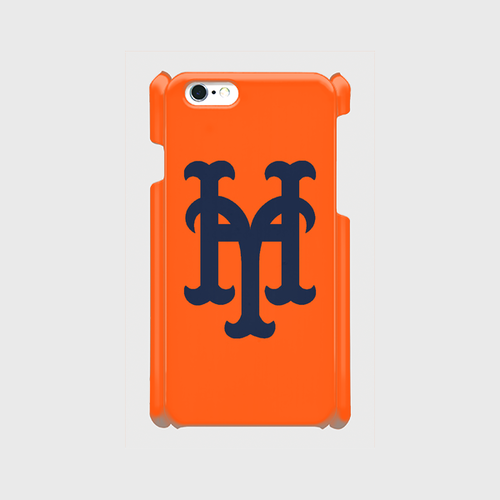 yh Mets iPhone6/6s/7 ケース (Orange×Navy)