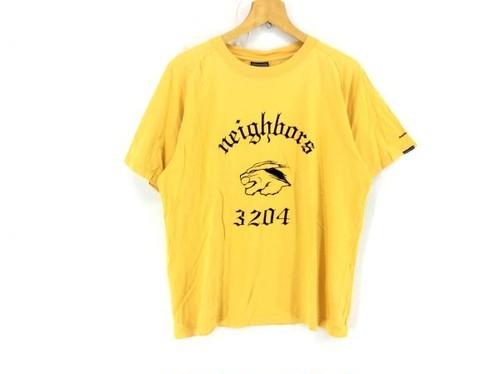 ネイバーフッド 2000 カレッジプリントTシャツ L 黄色