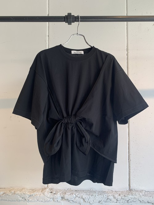 LENZ WAIST RIBBON T-SHIRT (Black)