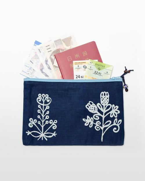 ファスナーポーチ(パスポートケース)