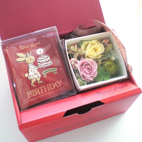 紅茶とお花のギフトセット(Birthday)