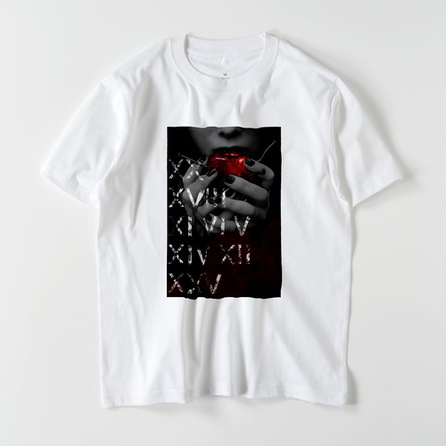 "5.6oz Graphic Print Cotton S/S TEE ""Gothic"""