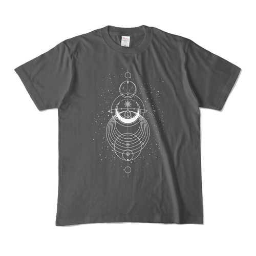 Geometric オリジナルデザインTシャツ グレー