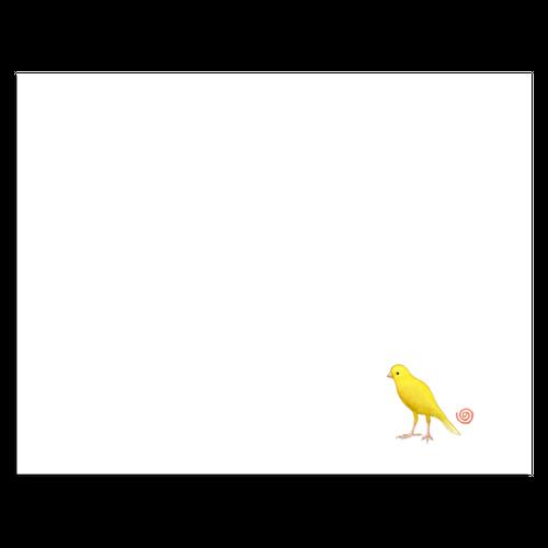 NORISANの小鳥マスク(カナリヤ)