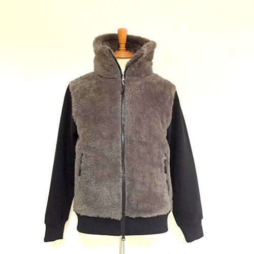 Switch Boa Zip High-Neck Jacket Gray