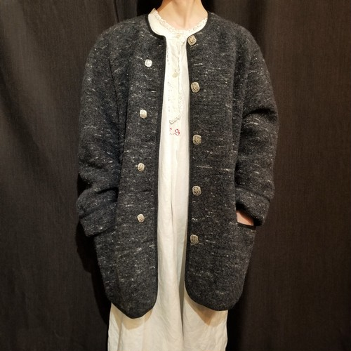 GEIGER  Heather color boiled wool coat /Made In Austria [G-901]