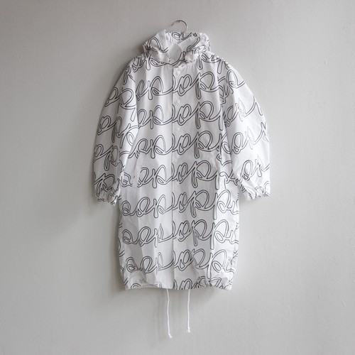 《frankygrow 2020AW》POP REMOBABLE FOODED LONG SHIRT / white × black / LL
