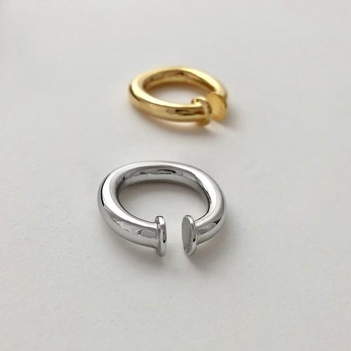 ring ear cuff silver