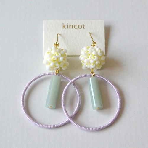 kincot サーカスピアス(ホワイト×ペールパープル)
