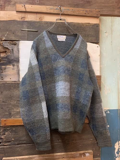 60's juilliard mohair v-neck sweater