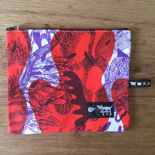 "ミニポーチ mini pouch ""jungle here""A04"