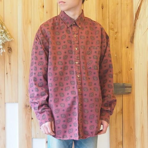 80's-90's cotton L/S shirt