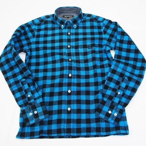 バッファローチェックBD シャツ サックスブルー×ブラック 1(S)