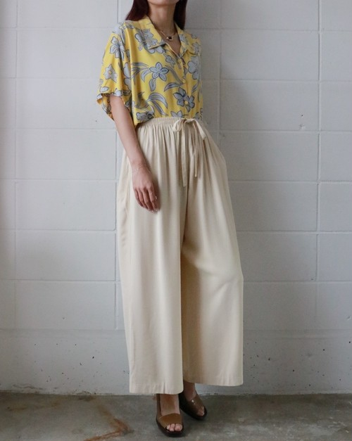 off-white easy ribbon wide pants