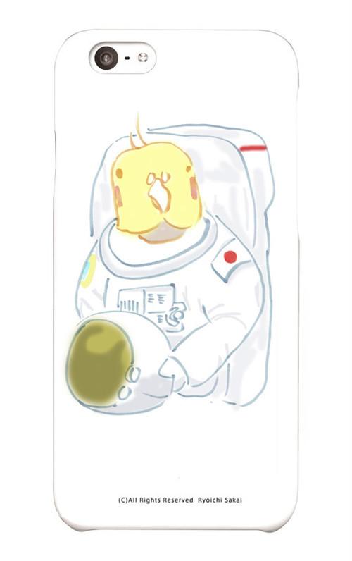 【1点もの】スマホケース「宇宙飛行士 ぽぃちゃん」