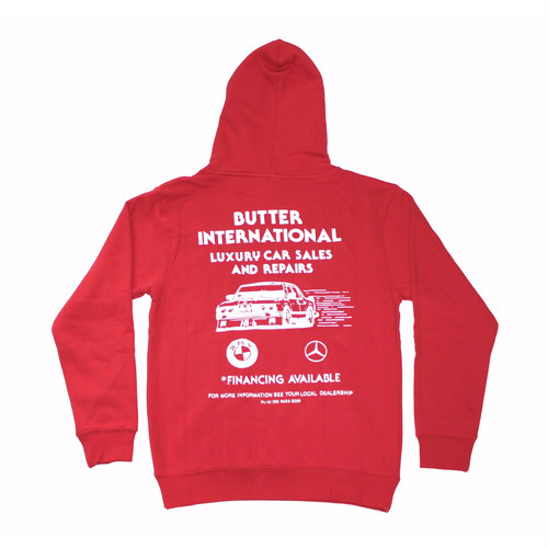 BUTTER GOODS M3 PULLOVER HOOD RED