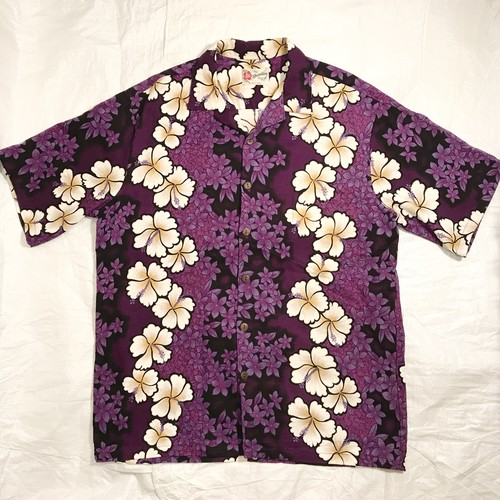 【Hilo Hattie】ヒロハッティ アロハシャツ Made in Hawaii