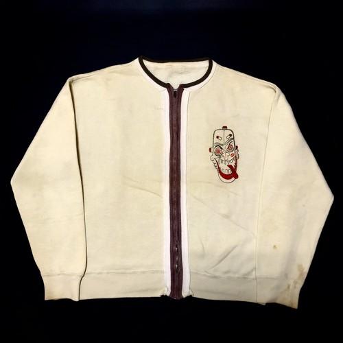 60's モンスタープリント ヴィンテージ スウェット Monster Paint Ribbon Piping FULL ZIP Sweat shirts(NATIONAL ZIP片ツメ)
