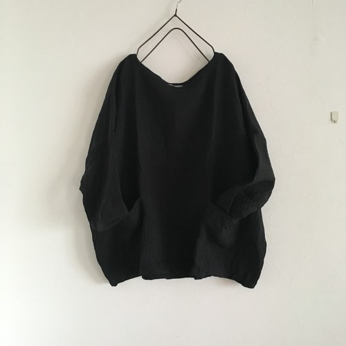 drop shoulder pullover  黒