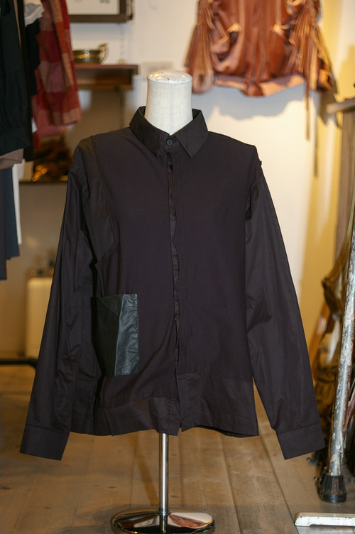 Ladies' / mixed fabric SHIRT