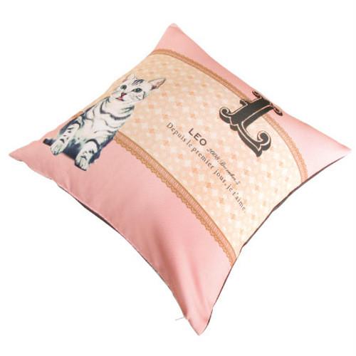 【ペット写真→オリジナル作成】クッション<Antique Paris Pink>