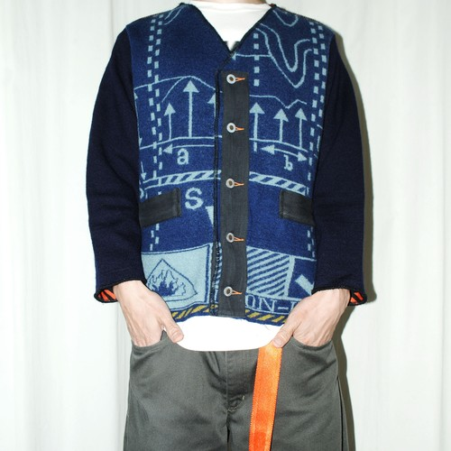 『G-FORCE』 90s vintage knitted jacket