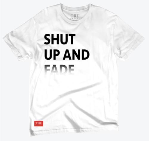 SHUT AND FADE Tシャツ ホワイト 各サイズ
