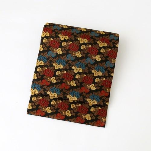 2130 未使用◆黒地唐華本袋帯