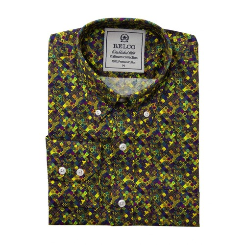 Relco London | Digital Psychedelic Print Shirt