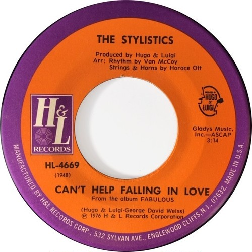 Stylistics, ‎The – Can't Help Falling In Love / Jenny